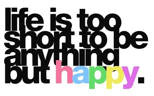 how can I be happy?